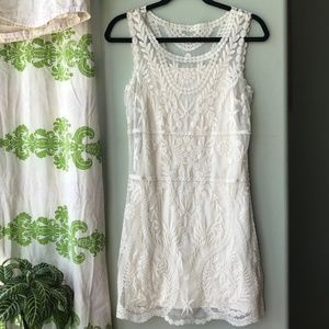 Like New White Cream Lace {Express}